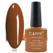Гель-лак Canni 016 Темно-коричневый 7,3 мл