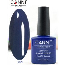 Гель-лак Canni 021 Темно-синий 7,3 мл
