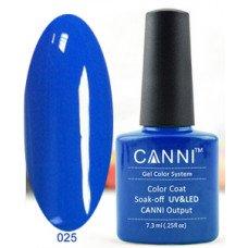 Гель-лак Canni 025 Темно-голубой 7,3 мл