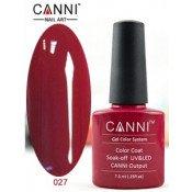 Гель-лак Canni 027 Темно-красный 7,3 мл