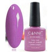 Гель-лак Canni 033 Фиолетово-розовый 7,3 мл