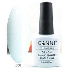 Гель-лак Canni 038 Светлый серо-голубой 7,3 мл