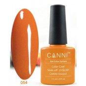 Гель-лак Canni 054 Темно-оранжевый 7,3 мл