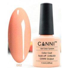 Гель-лак Canni 062 Бледно-персиковый 7,3 мл