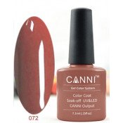 Гель-лак Canni 072 Лилово-коричневый 7,3 мл
