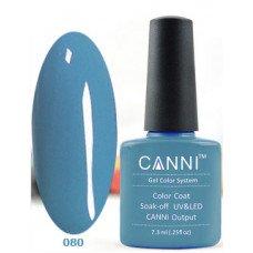 Гель-лак Canni 080 Стальной синий 7,3 мл