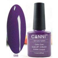 Гель-лак Canni 098 Насыщенный фиолетовый 7,3 мл