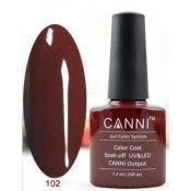 Гель-лак Canni 102 Красно-коричневый 7,3 мл