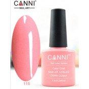 Гель-лак Canni 115 Нежный светло-розовый 7,3 мл