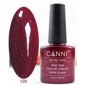 Гель-лак Canni 129 Блестящий бордовый 7,3 мл