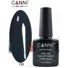 Гель-лак Canni 132 Темно-серый 7,3 мл
