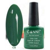 Гель-лак Canni 134 Сплошной зеленый 7,3 мл