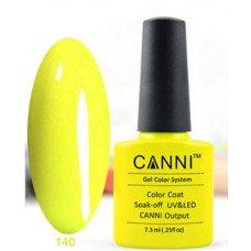 Гель-лак Canni 140 Ярко-желтый, неоновый 7,3 мл