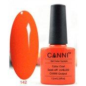 Гель-лак Canni 142 Яркий кораллово-оранжевый 7,3 мл