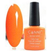 Гель-лак Canni 143 Ярко-оранжевый, тыквенный 7,3 мл
