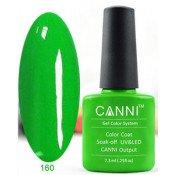 Гель-лак Canni 160 Ярко-зеленый 7,3 мл