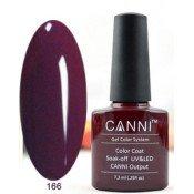 Гель-лак Canni 166 Пурпурно-фиолетовый 7,3 мл