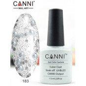 Гель-лак Canni 183 Серый, блестящий, полупрозрачный 7,3 мл
