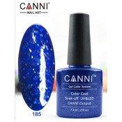 Гель-лак Canni 185 Синий, сверкающий 7,3 мл