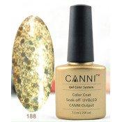 Гель-лак Canni 188 Золотая мишура 7,3 мл
