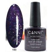 Гель-лак Canni 190 Фиолетово-черный, блестящий 7,3 мл