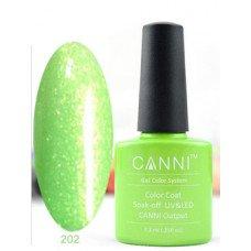 Гель-лак Canni 202 Светло-зеленый перламутровый 7,3 мл