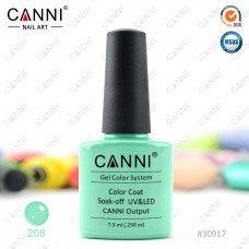 Гель-лак Canni 208 Мятно-зеленый 7,3 мл