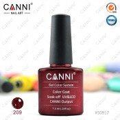 Гель-лак Canni 209 Вишневый блестящий 7,3 мл