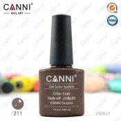 Гель-лак Canni 211 Серо-коричневый с блеском 7,3 мл