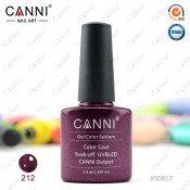Гель-лак Canni 212 Пурпурно-красный жемчуг 7,3 мл