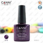Гель-лак Canni 213 Глубоко-пурпурный жемчуг 7,3 мл