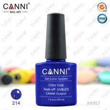 Гель-лак Canni 214 Королевский синий с блеском 7,3 мл