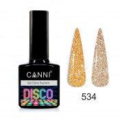 Светоотражающий гель-лак Canni Disco 534 Светлое золото 7,3 мл