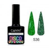 Светоотражающий гель-лак Canni Disco 536 Сочный зеленый 7,3 мл