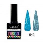 Светоотражающий гель-лак Canni Disco 542 Дымчато-голубой 7,3 мл