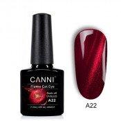Гель-лак Canni 3D Flame Cat Eye A22 вишневый