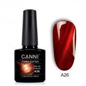 Гель-лак Canni 3D Flame Cat Eye A26 темно-красный