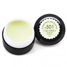 Гель-краска Канни (Canni) 501 бледно-салатовая