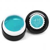Гель-краска Canni-610 бирюза голубая 5 мл