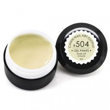 Гель-краска Канни (Canni) 504 бледно-жёлтая