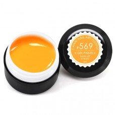 Гель-краска Канни (Canni) 569 светлая оранжевая неоновая