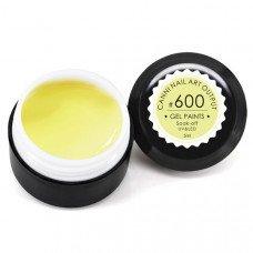 Гель-краска Канни (Canni) 600 пастельная жёлтая