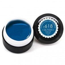Гель-краска Канни (Canni) 618 сине-зелёная
