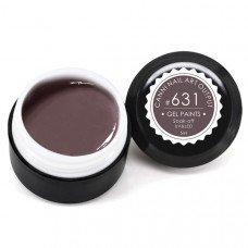 Гель-краска Канни (Canni) 631 тёмная коричнево-серая