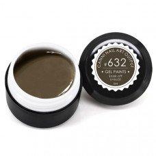 Гель-краска Канни (Canni) 632 грязно-коричневая