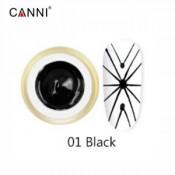 Гель-паутинка Canni 01 чёрный 8 мл