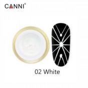 Гель-паутинка Canni 02 белый 8 мл