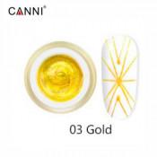 Гель-паутинка Canni 03 золотистый 8 мл
