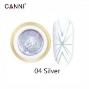 Гель-паутинка Canni 04 серебристый 8 мл