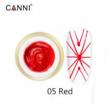 Гель-паутинка Canni 05 красный 8 мл